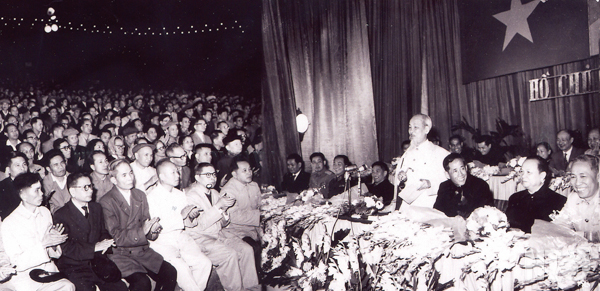 President Ho Chi Minh presented a speech at the 30th anniversary of the Communist Party of Vietnam (February 3rd, 1930 – February 3rd, 1960) on January 5th, 1960, in Hanoi.