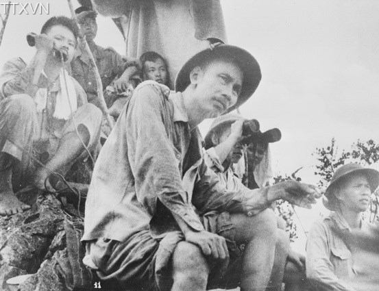President Ho Chi Minh kept a close watch on the Dong Khe front in Cao Bang province