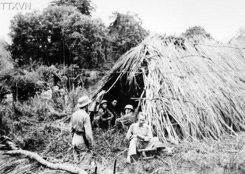 President Ho Chi Minh, the founder and leader of Vietnamese military, kept a close watch on the front during the border campaign. His 'bunk' moved according to battles. Sometimes, it was no more than a temporary grass hut.