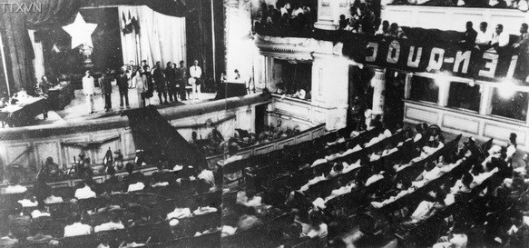The first meeting of the National Assembly of the Democratic Republic of Vietnam after the first general election nationwide on June 1st, 1946