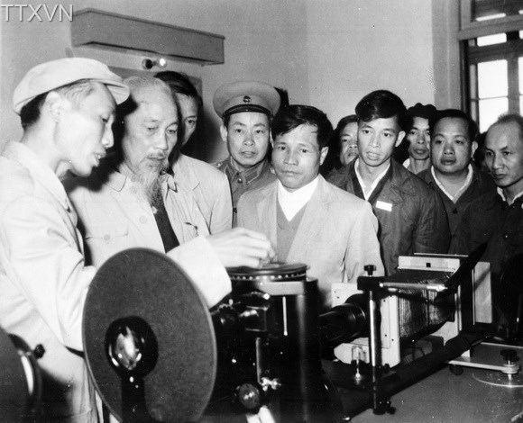 President Ho Chi Minh visited a mechanical workshop in Thai Nguyen Iron and Steel Area in 1964.