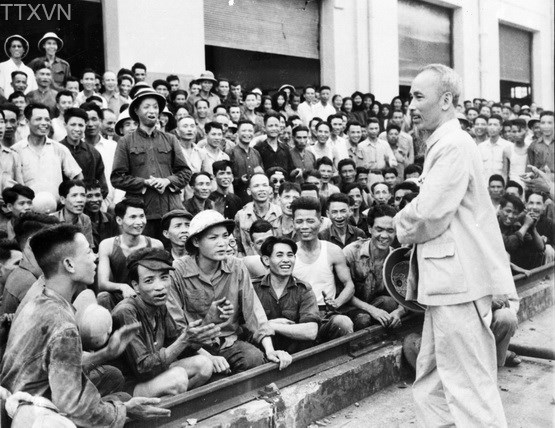 President Ho Chi Minh visited Gia Lam train factory on May 19th, 1955.