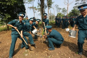 Planting trees at Da Chong-K9 historical relic site