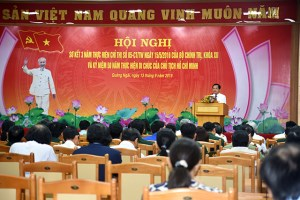 Quang Ngai summarizes studying and following President Ho Chi Minh
