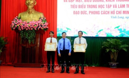 Vinh Long honors typical youths for following Uncle Ho's teachings