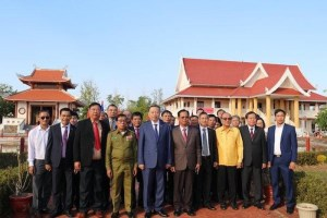 General To Lam visits Ho Chi Minh relic site in Laos