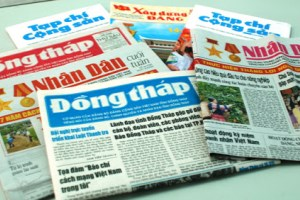 Strengthening reading and following the Party newspapers